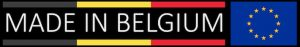 Made in Belgium with European Flag logo